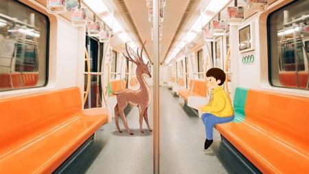 地铁,鹿,创意,插图,设计高端桌面精选 3840x2160