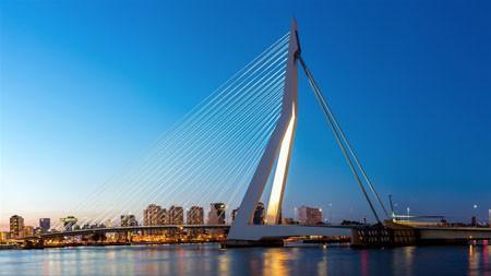 伊拉斯mus大桥,荷兰,2021年,城市,旅行,高清照片高端桌面精选 3840x2160