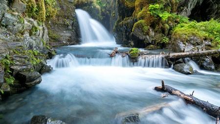 丛林,河流,瀑布,岩石,苔高端桌面精选 3840x2160