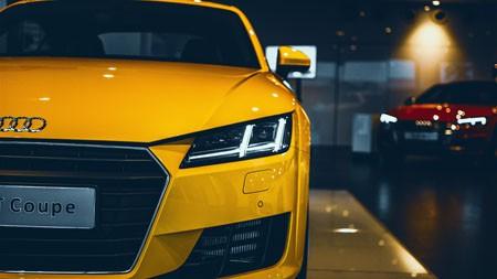2022,黄色系列,奥迪,汽车灯,特写镜头极品壁纸精选 3840x2160