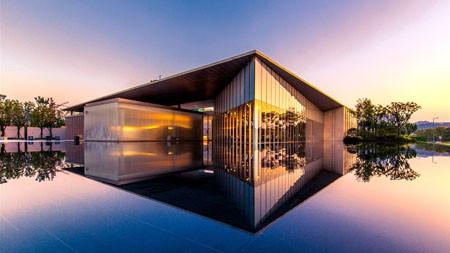 豪华,别墅住宅,2021,湖,黄昏,5K,照片百变桌面精选 3840x2160