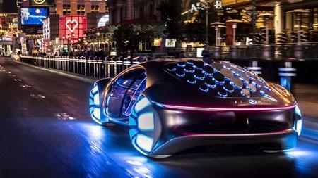 梅赛德斯·奔驰,视觉avtr,2022,豪华,汽车,海报高端桌面精选 3840x2160