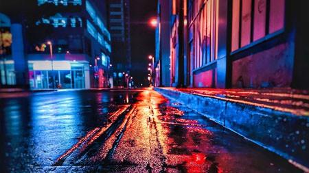 街头之夜,雨后,2022,城市,高清,照片高端桌面精选 3840x2160