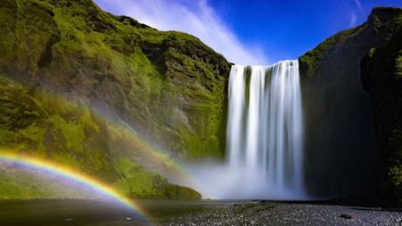 冰岛,Skogafoss,瀑,溪,彩虹高端桌面精选 3840x2160