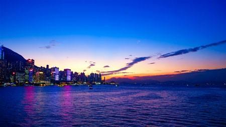 城市,港口,湾,蓝蓝的天空,日落,摄影高端桌面精选 3840x2160