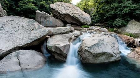 高山,森林,早晨,河,石高端桌面精选 3840x2160