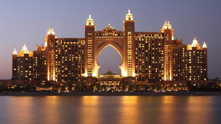 亚特兰蒂斯,迪拜,酒店,夜,海洋,天空高端桌面精选 3840x2160