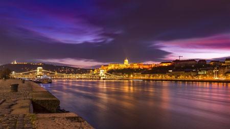 旅游,城市,灯光,夜晚,河岸,场景,4K高端桌面精选 3840x2160