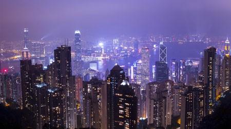香港,现代,建筑,夜晚,摄影,4K,高清高端桌面精选 3840x2160