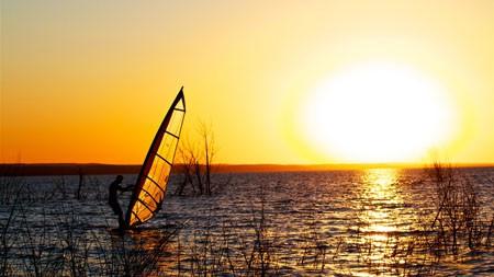 帆船运动,户外,运动,湖,日落高端桌面精选 3840x2160