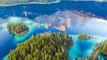 Eibsee湖,巴伐利亚,德国,2021年,Bing,高清,桌面高端桌面精选 3840x2160