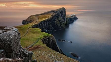 英国,海洋,海岸,悬崖,日落,景观高端桌面精选 3840x2160