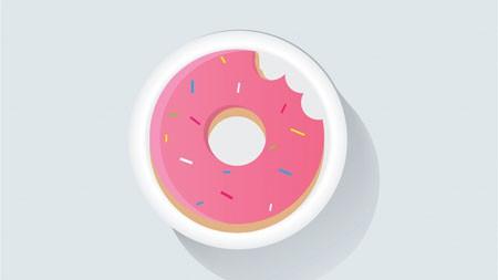 粉红色的,甜甜圈,抽象,艺术,设计高端桌面精选 3840x2160