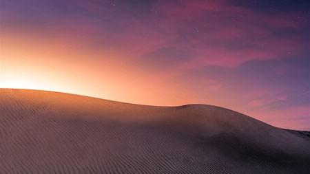 沙漠,沙丘,日落,美丽,自然,景观百变桌面精选 3840x2160