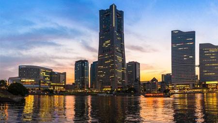 日本,横滨市,建筑,日落,风景高端桌面精选 3840x2160
