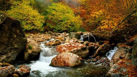 亚美尼亚,Lastiver,秋季,森林,河流,石高端桌面精选 3840x2160