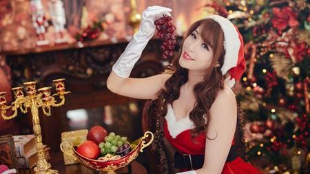2022,快乐,圣诞,美女,模特,4K,高清极品壁纸精选 3840x2160