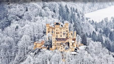 城堡,施万高,福森,巴伐利亚,2021年,必应,高清,桌面高端桌面精选 3840x2160