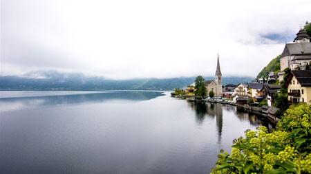 欧洲,镇,教堂,湖,天际线,风景高端桌面精选 3840x2160