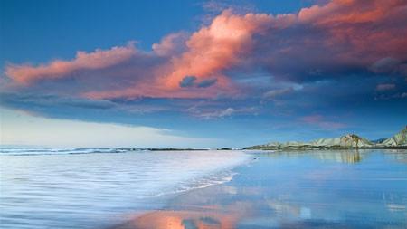 夏天,漂亮,光滑,沙滩,海洋,天际线百变桌面精选 3840x2160