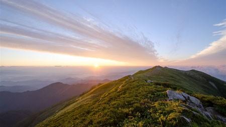 丛林,高山,云海,日落,地平线,景观高端桌面精选 3840x2160