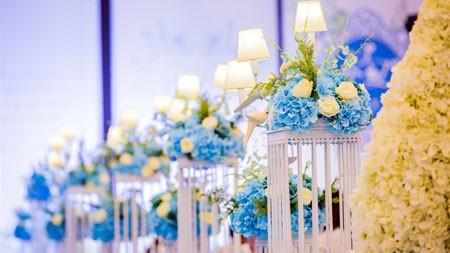 浪漫,婚礼现场,鲜花,装饰,灯高端桌面精选 3840x2160