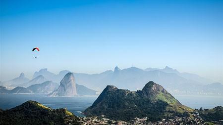 市,地平线,山,天空,冒险高端桌面精选 3840x2160