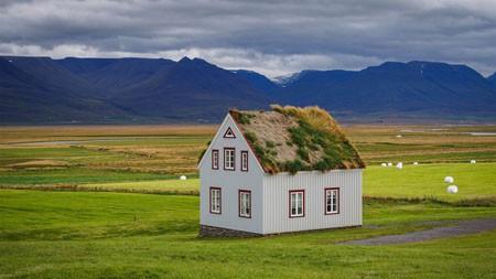 冰岛,绿色,平原,木屋,4K,风景,摄影高端桌面精选 3840x2160