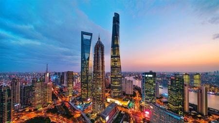 新时代,地标,建筑,夜景,中国上海高端桌面精选 3840x2160