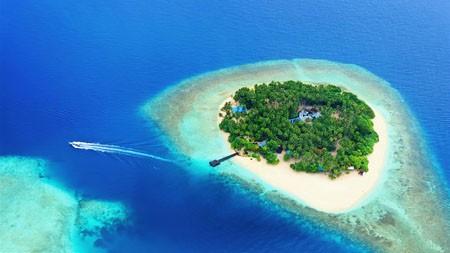 热带,绿色,岛,蓝色,海洋,旅游,4K,超高清高端桌面精选 3840x2160