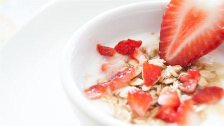美味,草莓,麦片,4K,高清高端桌面精选 3840x2160