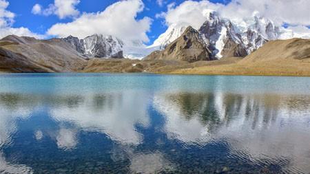 高山,冰雪,清澈的湖水,风景高端桌面精选 3840x2160