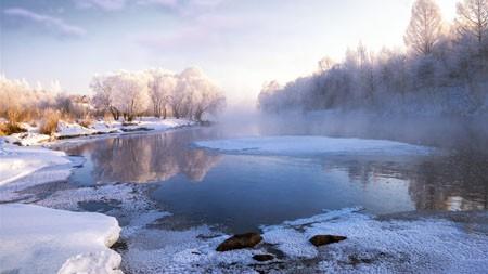 中国,黑龙江,冬天,早晨,冰霜冰高端桌面精选 3840x2160