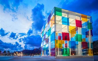 蓬皮杜中心马拉加,西班牙,2021年,必应,5K,高清,照片极品壁纸精选 5120x2880