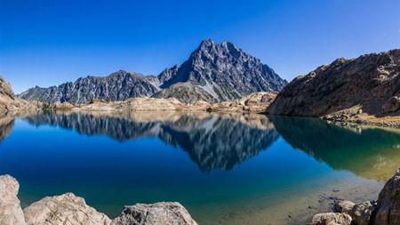 湖,岩石,荒野,山,2022,高清,自然,照片高端桌面精选 3840x2160