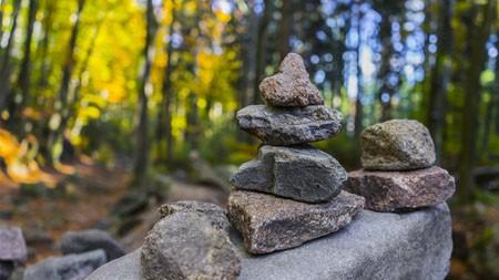 秋天,丛林,堆积,岩,4K,高清,照片高端桌面精选 3840x2160