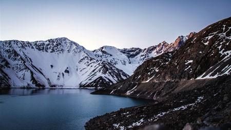 早上,雪,山地,高原,湖泊高端桌面精选 3840x2160