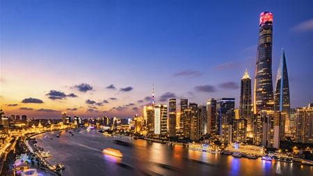 东方城市,上海,陆家嘴,黄浦江,黄昏高端桌面精选 3840x2160