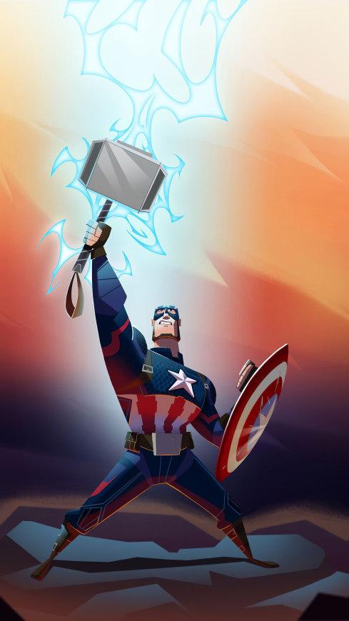 美国队长雷神之锤漫画极品游戏桌面精选4K手机壁纸