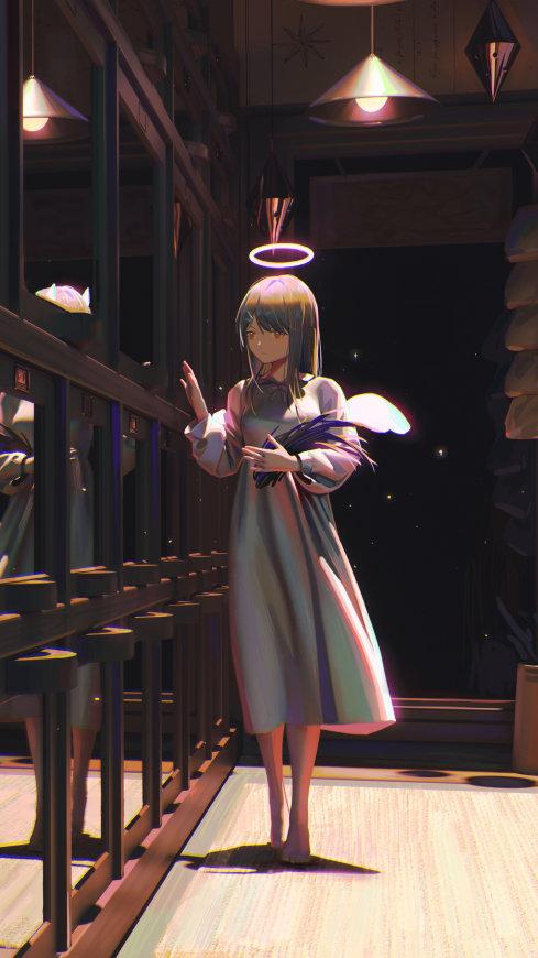 天使之翼动漫女孩极品游戏桌面精选4K手机壁纸