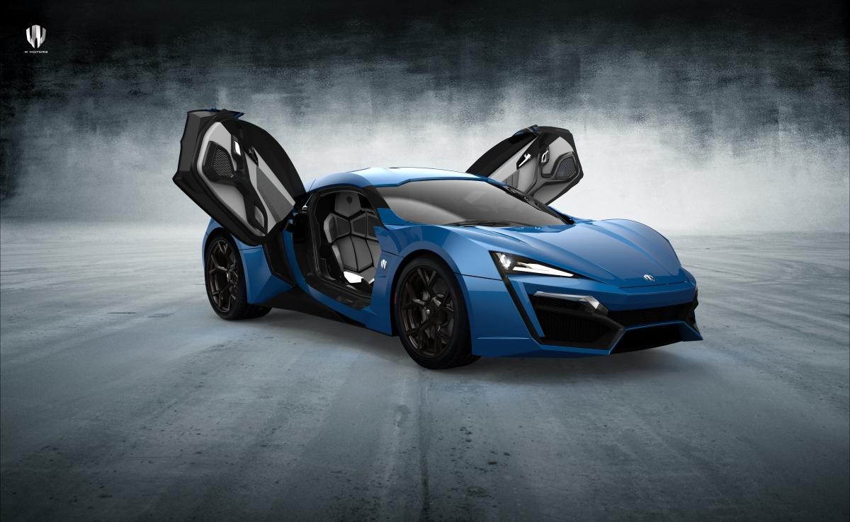蓝色超级跑车Lykan Hypersport 8K超高清壁纸精选