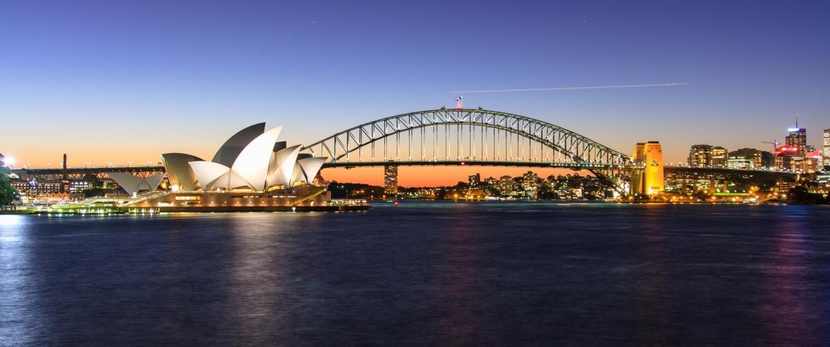 悉尼港 悉尼港湾大桥 悉尼歌剧院3440x1440风光高端电脑桌面壁纸