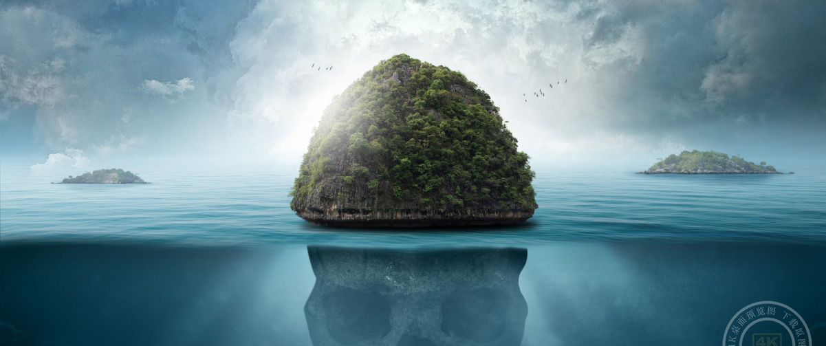 岛风景3440x1440高端电脑桌面壁纸