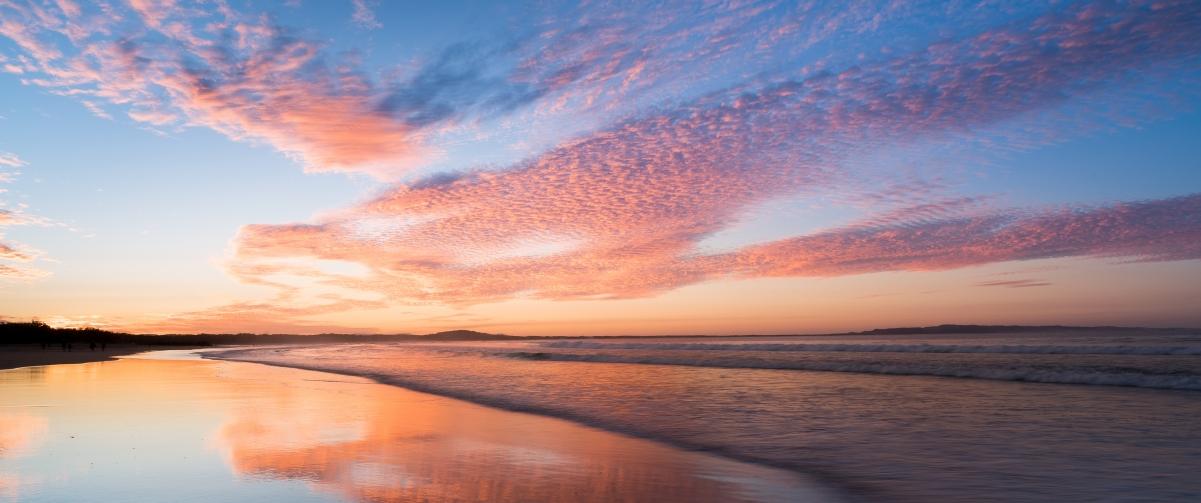 日落海滩3440x1440带鱼屏风景高端电脑桌面壁纸