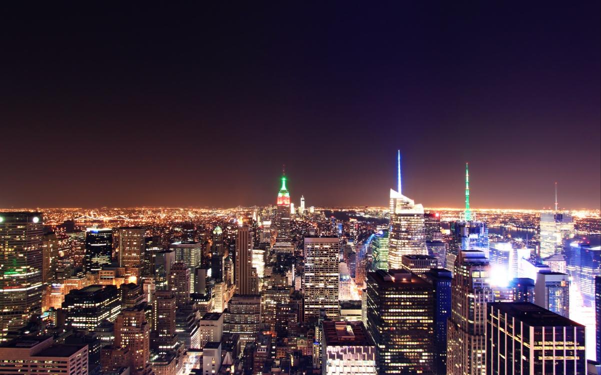 城市夜景4K高端电脑桌面壁纸