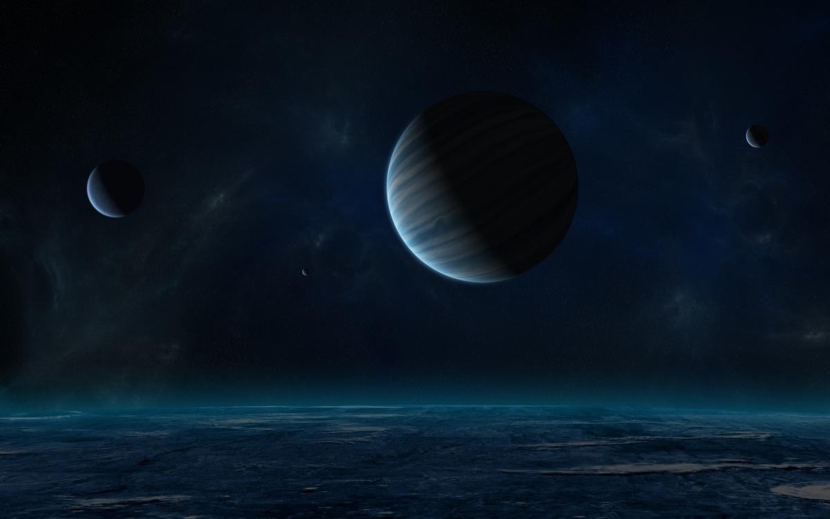 夜晚的星空 地球 4K高端电脑桌面壁纸