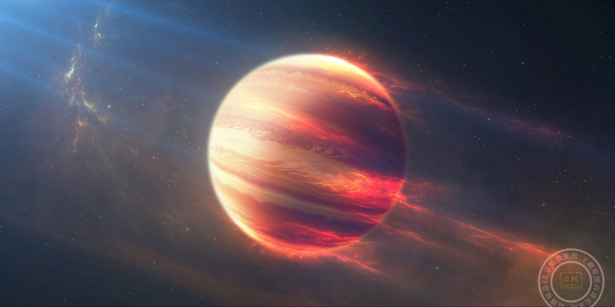 空间 火行星4K图片