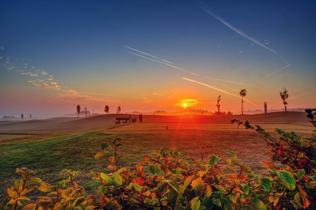 日落的天空风景4K图片