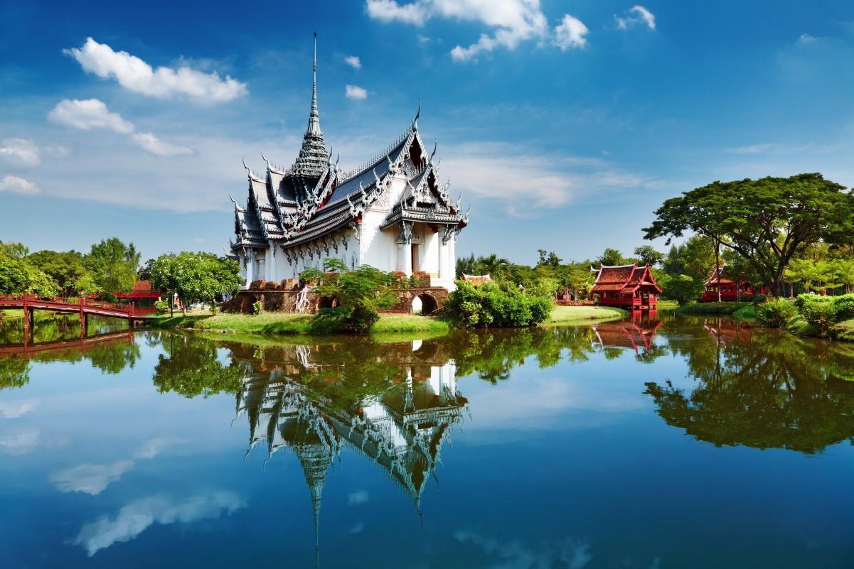 泰国芭提雅曼谷宫殿风景高清图片