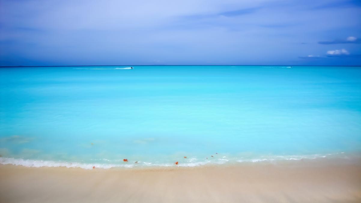 加勒比海滩高清4k桌面高端电脑桌面壁纸